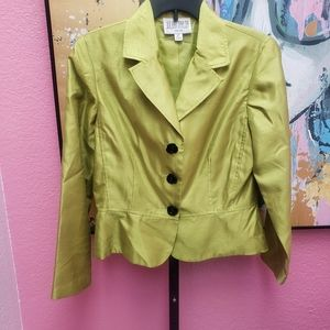 Julian Taylor Size 12 Petite Green Jacket